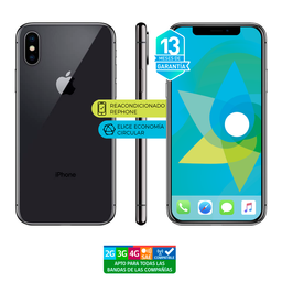 Apple Iphone X 64Gb Gris Reacondicionado (Garantía 13M)