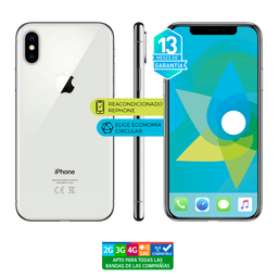 Apple Iphone X 64Gb Plata Reacondicionado (Garantía 13M)