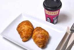 Croissant Jamón Queso + Café