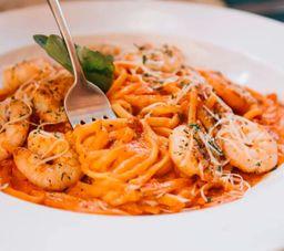 Tomato Cream Shrimp Pasta