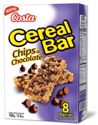 Cereal Bar Chips Choc Costa 8Un