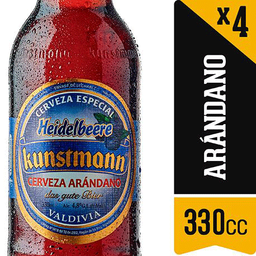 Four Pack Cerveza Kunstmann Arandano 330ml