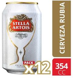 Cerveza Stella Artois Lata 12Pack 354cc