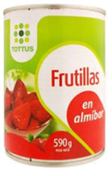 Frutillas Enteras 590g Tottus