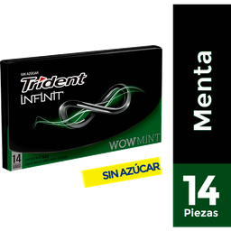 Chicle Trident Infinit Wow Mint