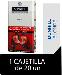Dunhill Blonde Fine Cut Cigarrillos Cajetilla 20Un