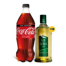 Promo: Alto del Carmen 1 Litro 35°+ Coca Cola Variedades 1.5Lt