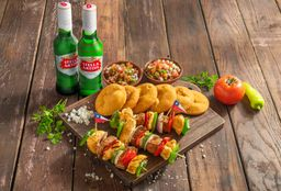 Plato para compartir a la Chilena + 2 Stella Artois