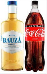 Promo Pisco Bauza 35° 1L + Coca Cola 1.5Lt variedades