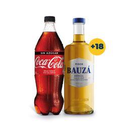 Promo: Pisco Bauza 35° 1Lt + Bebida Coca Cola 1.5Lt Variedades