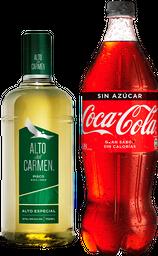 Promo: Pisco Alto Del Carmen 35° 750ml + Bebida variedades 1,5L