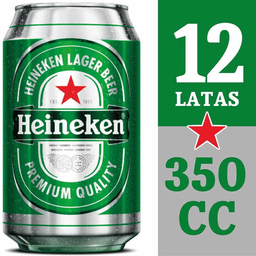 Pack Cervezas Lager Heineken 350cc 12Un