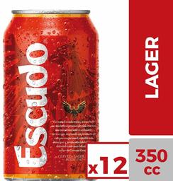Pack Cervezas Lager Escudo 350cc 12Un