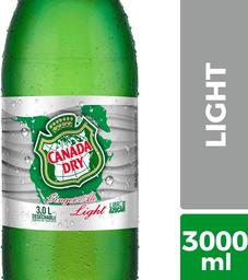 Bebida Light Sabor Ginger Ale Botella Canada Dry 3L
