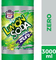 Bebida Zero Sabor Limón Botella Limón Soda 3l