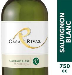 3 x Vino Sauvignon Blanc Botella Casa Rivas 750cc