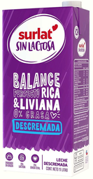Leche Descremada sin Lactosa Caja Surlat 1Ld5805