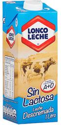 Leche Descremada Natural sin Lactosa Caja Loncoleche 1L