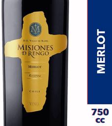 Vino Merlot Reserva Botella Misiones de Rengo 750cc