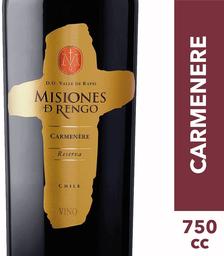 Vino Carmenère Reserva Botella Misiones de Rengo 750cc