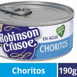 Choritos en Agua Lata Robinson Crusoe 190g