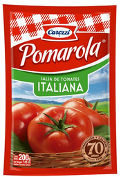 Salsa de Tomate Italiana Bolsa Pomarola 200g