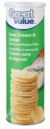 Snacks Frito sabor Crema Ácida y Cebolla Tarro Great Value 142g