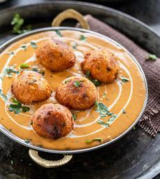 Malai Kofta Curry Acompñado con Basmati