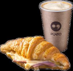 Croissant Jamón Queso + Café de Grano 8 oz