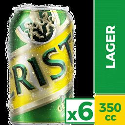 Six Pack Cerveza Cristal Lata 350 cc