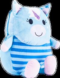 Mochila Con Patitas Unicornio Azul