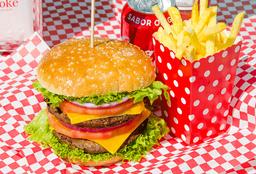 Combo Hamburguesa Doble Heart Attack