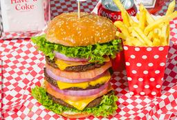 Combo Hamburguesa Triple Heart Attack