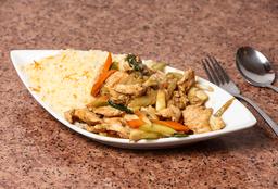 1 Chapsui de pollo + Arroz Chaufan