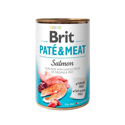 Alimento Humedo Para Perro Brit Pate & Meat Salmon 400 Lata g