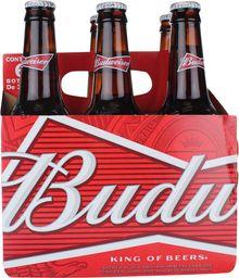 Cerveza Budweiser Six Pack Botellín 355cc