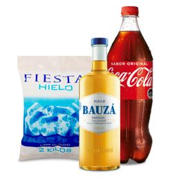 Promo Bauza 1L + 2k Hielo + Bebida 1,5L