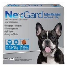 Antipulgas Nexgard Perros de 4.1 a 10 Kg 1 Comprimido