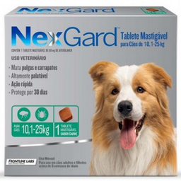 Antipulgas Nexgard Perros de 10 a 25 Kg 1 Comprimido