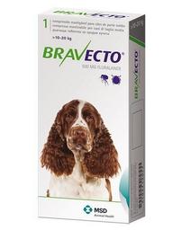 Antiparasitario Bravecto Para Perros de 10 a 20 Kg 1 Comprimido