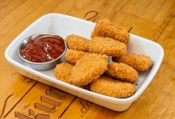 Nuggets con Salsa Bbq