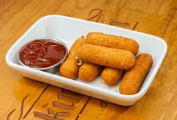 Mozzarella Sticks con Salsa Bbq