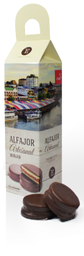 Alfajor de Manjar Encanto Caja Chocolate SemiAmargo 10 U