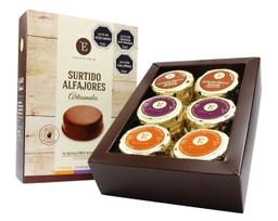 Alfajor de Manjar Encanto Caja Chocolate SemiAmargo 12 U
