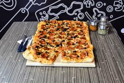 Pizza Pollo Pesto Familiar