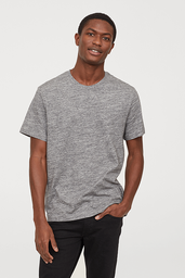 Polera R-Neck Basic Fit Fancy Gris 1 U
