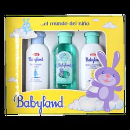Set Babyland Colonia + Shampoo + Emulsionado 3 U