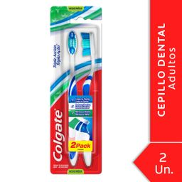 Cepillo Dental Colgate Triple Acción Medio 2 U