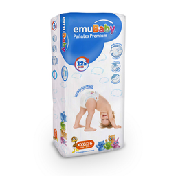 Pañales Emubaby Premium Talla XXG 36 U