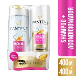 Pantene - Pack Shampoo + Acondicionador Pantene Micelar 400Ml